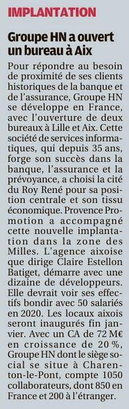 Article la Provence du 11 janvier 2019