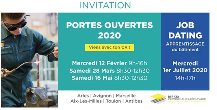 JOURNEES PORTES OUVERTES BTP CFA 2020