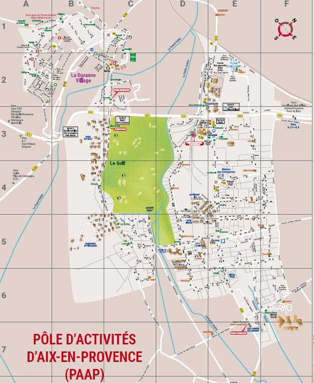 Plan du Pôle